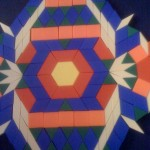 An amazing radiating pattern using Pattern Blocks!