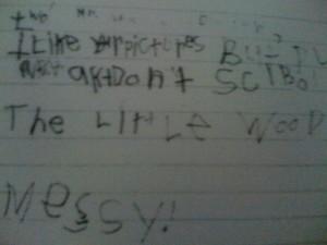 Matt's Letter to B Wildsmith